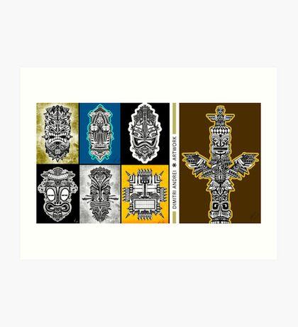 TotemMask * Catalogue  Art Print