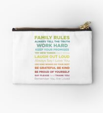 Family Rules Studio Pouch