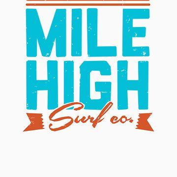 Mile High Surf Co. - Blue + Orange by selceeus