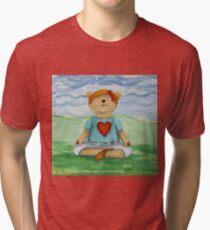 Live Love Yoga Bear  Tri-blend T-Shirt