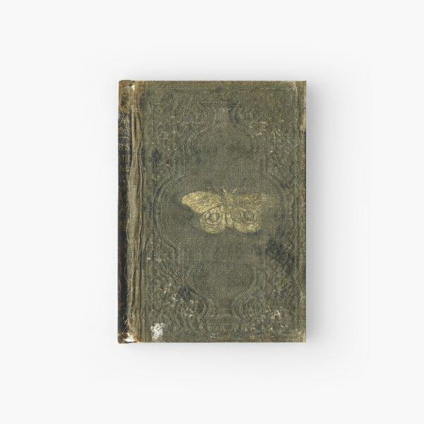Antique Journal / Spellbook, Golden moth Hardcover Journal