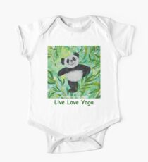 Live Love Yoga Panda Bear One Piece - Short Sleeve