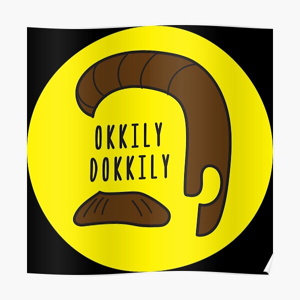 Okkily Dokkily Flanders design Poster