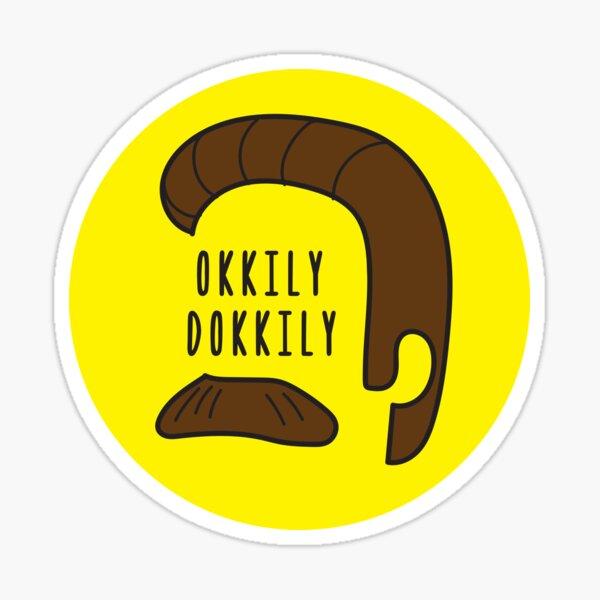 Diseño de Okkily Dokkily Flanders Pegatina