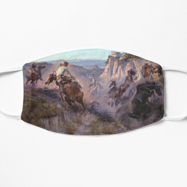 Charles M Russell - Wild Horse Hunters Mask