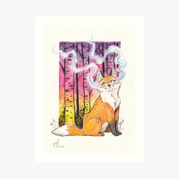 Magical Fox Familiar Art Print