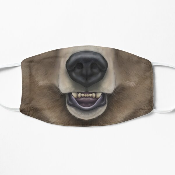 Grizzly Bear Face Mask