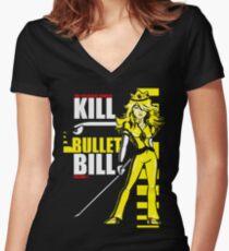 Kill Bullet Bill (Black & Yellow Variant) Women's Fitted V-Neck T-Shirt
