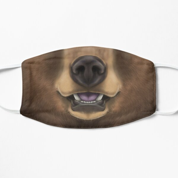 Cinnamon Black Bear Face Mask