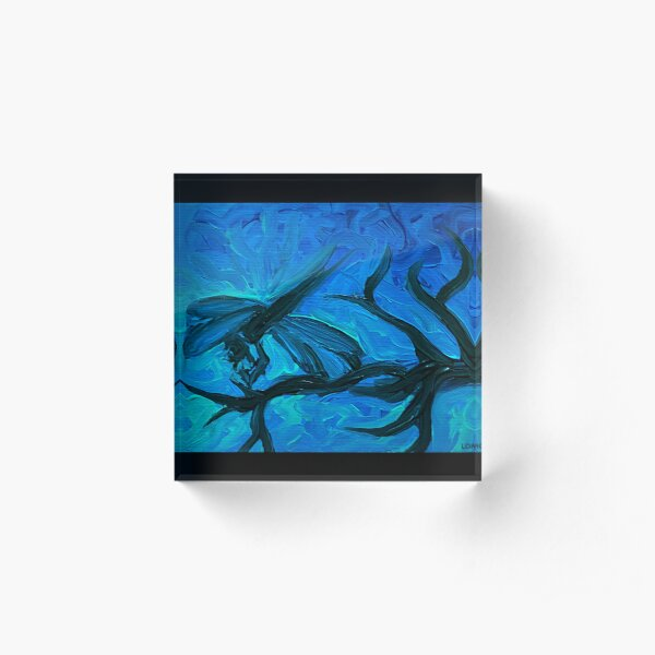 Dragonfly Blues Acrylic Block