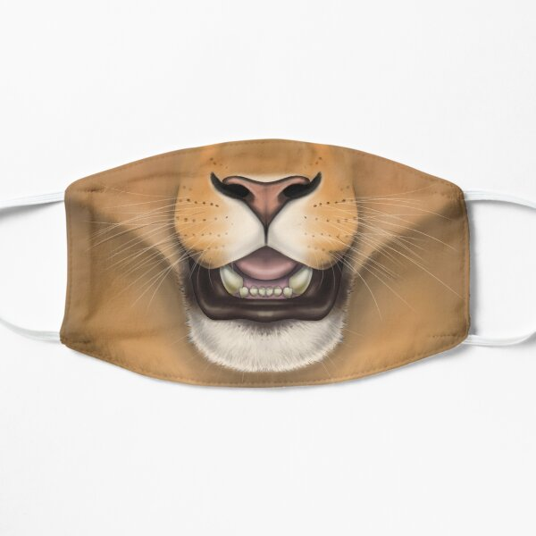 Lioness Face Flat Mask