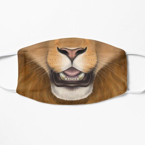 Maned Lion Face Flat Mask