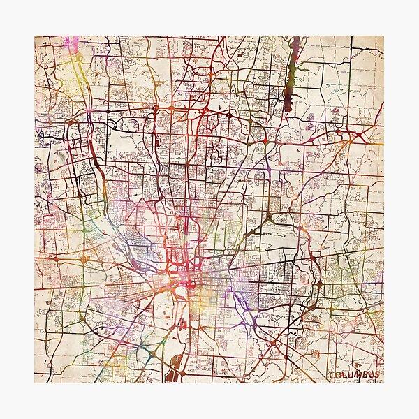 Columbus Karte Fotodruck