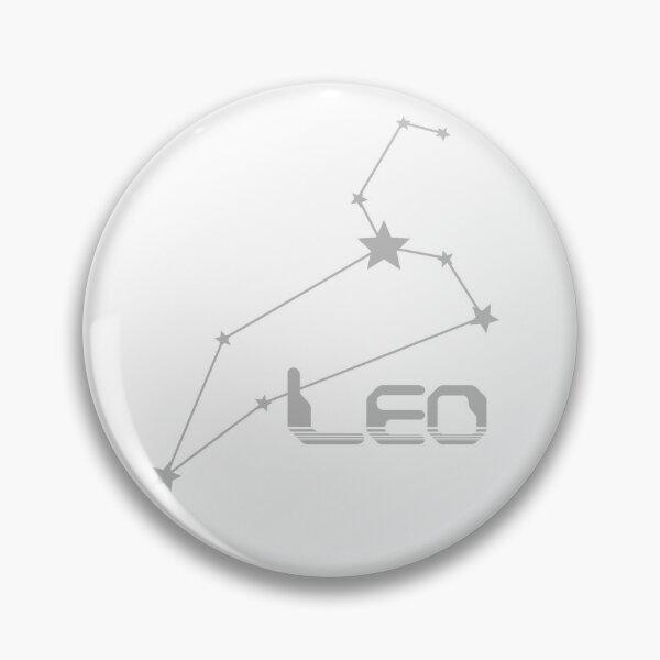 Retro Constellations: Leo -- Gray Pin