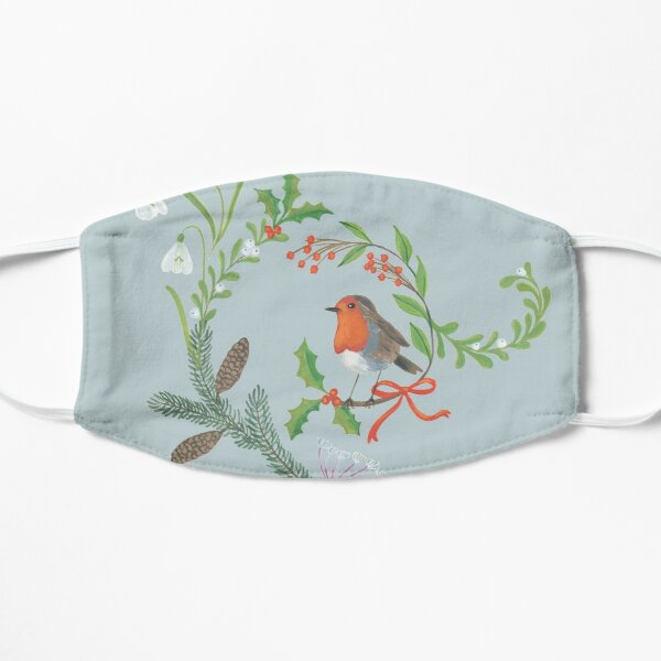 Christmas Chintz with Robin - Traditional chintz by Cecca Designs Mask
