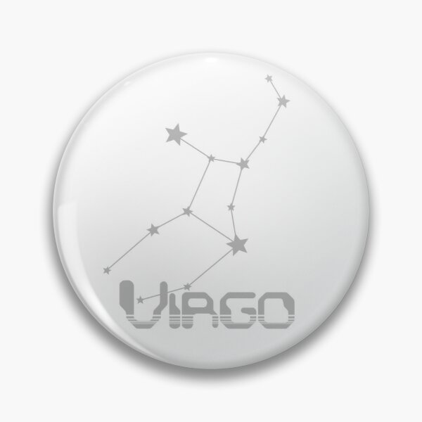 Retro Constellations: Virgo -- Gray Pin