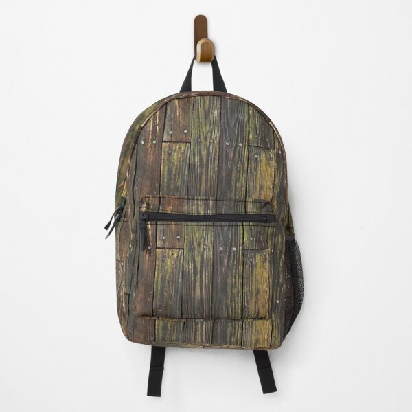 Weathered Wooden Boards and Nails Wallpaper Backpack