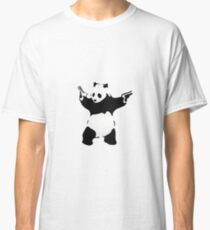 Banksy Panda With Handguns Classic T-Shirt