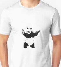 Banksy Panda With Handguns T-Shirt