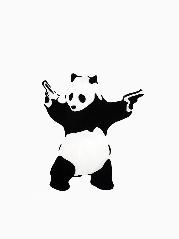 Banksy Panda With Handguns | Unisex T-Shirt