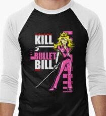 Kill Bullet Bill (Black & Magenta Variant) Men's Baseball ¾ T-Shirt