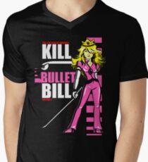 Kill Bullet Bill (Black & Magenta Variant) Men's V-Neck T-Shirt