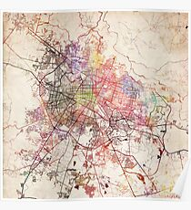 Guadalajara map Poster