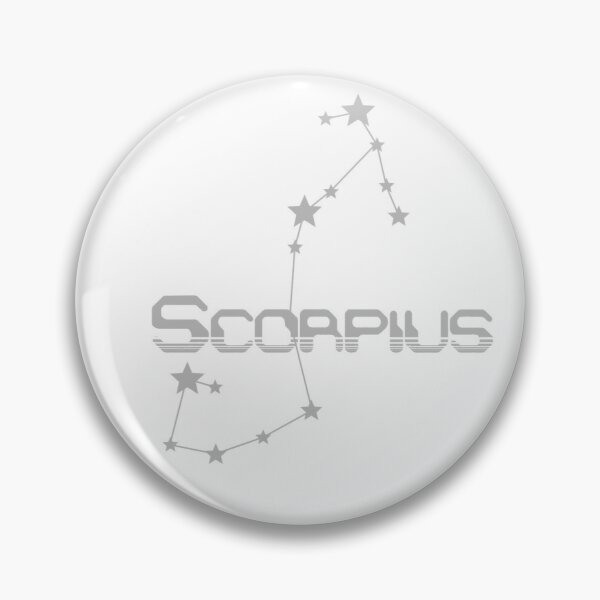 Retro Constellations: Scorpius -- Gray Pin
