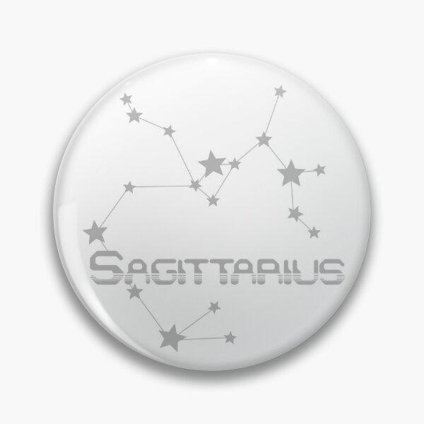 Retro Constellations: Sagittarius -- Gray Pin