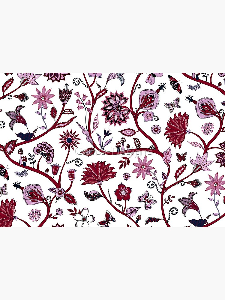 Fantasy Indian Floral - elegant, romantic pattern by Cecca Designs by Cecca-Designs