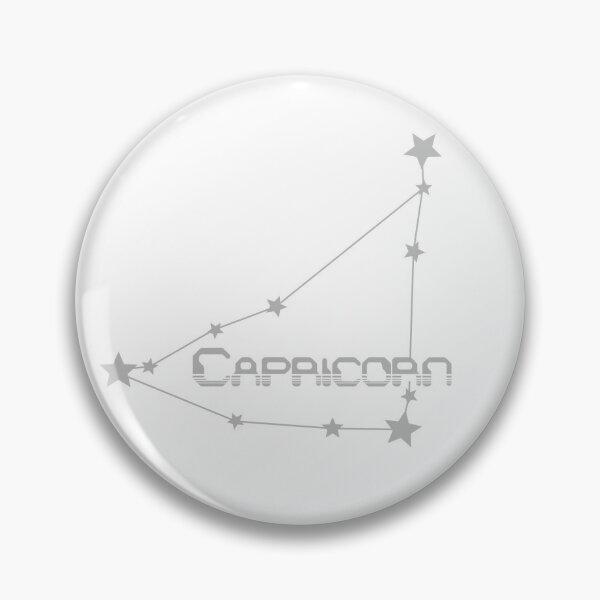 Retro Constellations: Capricorn -- Gray Pin