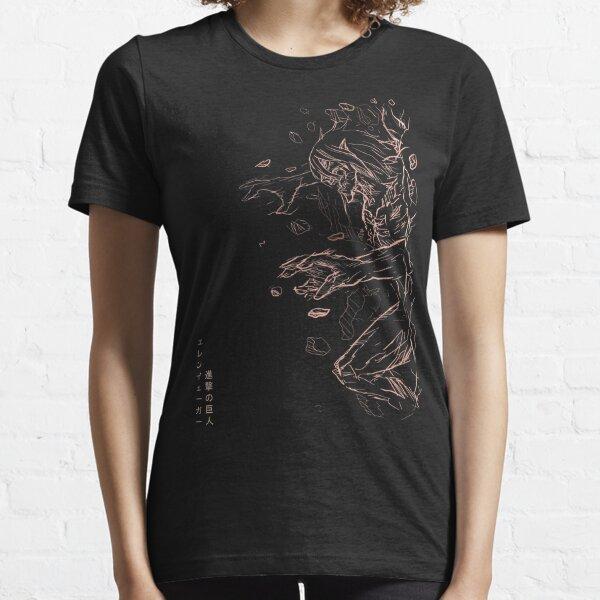 Attaque Titan Illustration / fanart. Eren Attack Titan brisant un style de titan blindé mural. Attaque sur Titan Poster T-shirt essentiel