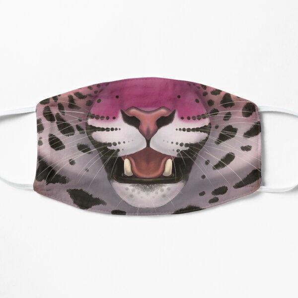 Pink Jaguar Face Flat Mask