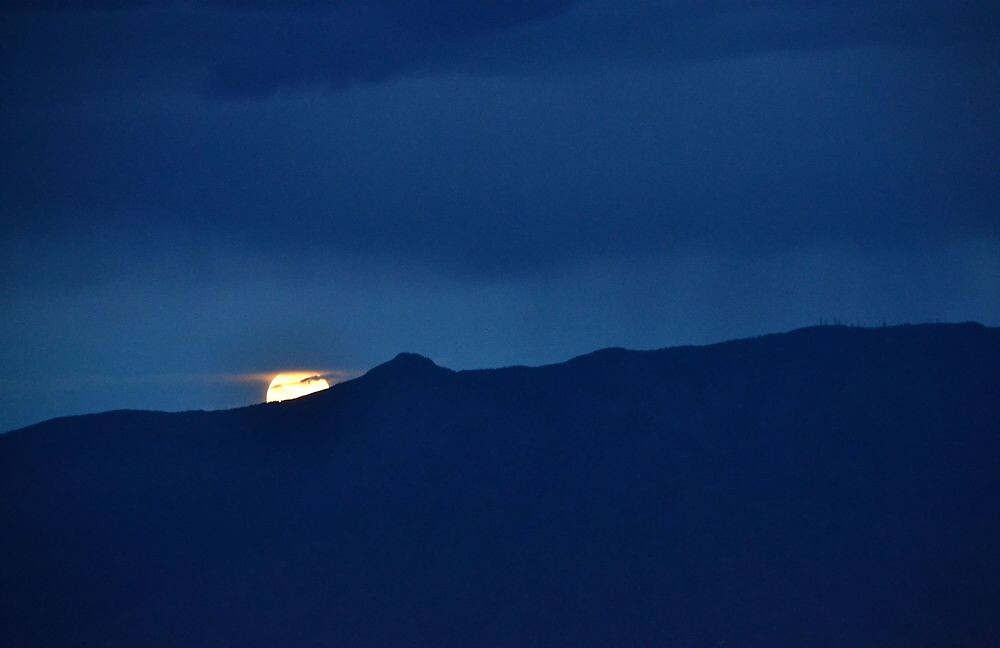 Moon over the Sandias by Astrid Allan