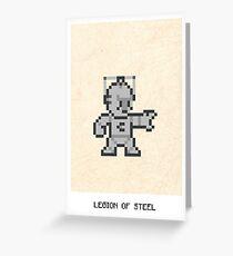 Legion Of Steel Greeting Card