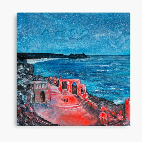 Minack Theatre Show, Cornwall Art Canvas Print