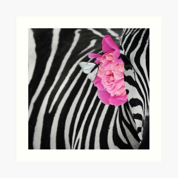 Adorned Zebra Art Print