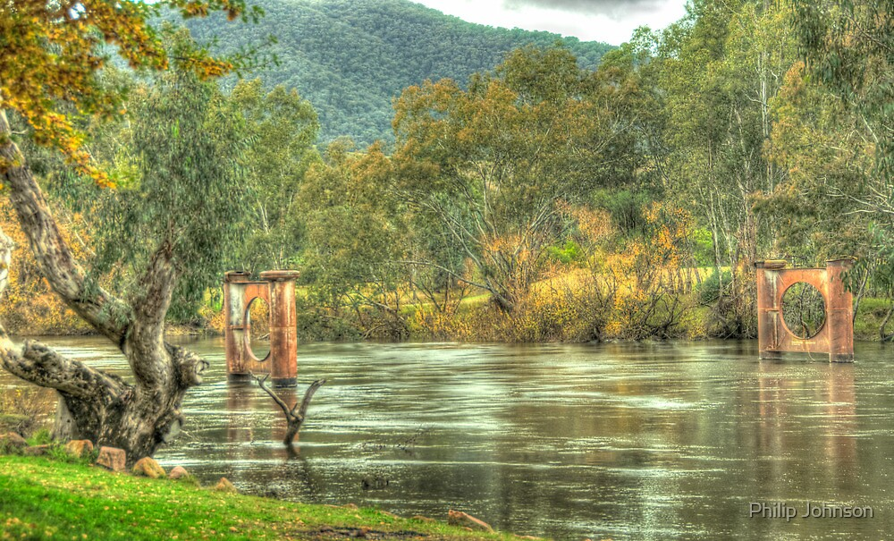 A River Runs Through It - Jingellic NSW/Walwa Victoria - The HDR Experience by Philip Johnson