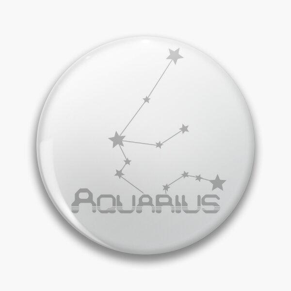 Retro Constellations: Aquarius -- Gray Pin
