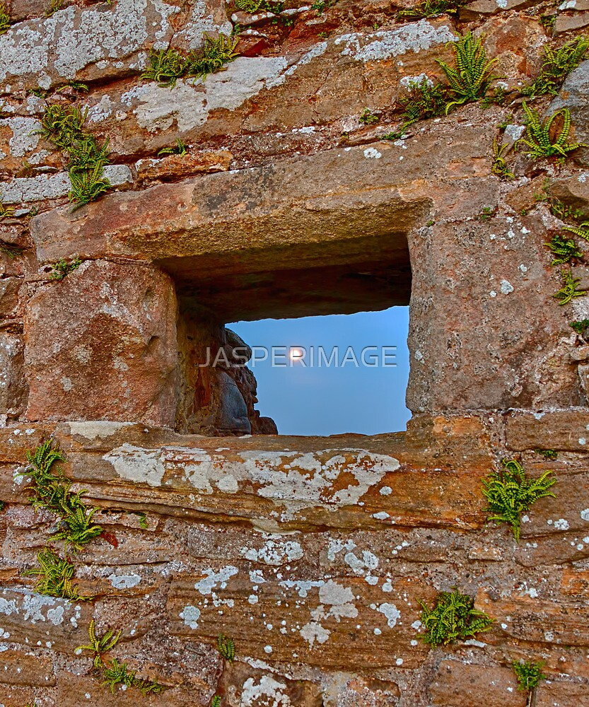 DUFFUS CASTLE FULL MOON IN WINDOW by JASPERIMAGE