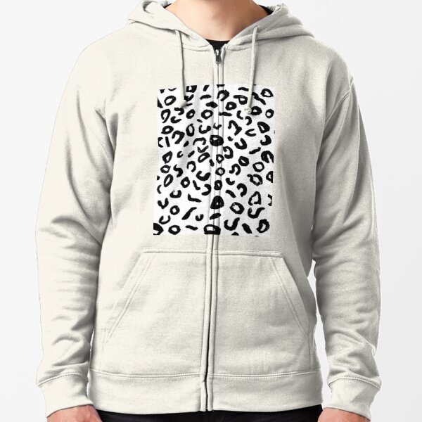Leopard Spots Zipped Hoodie