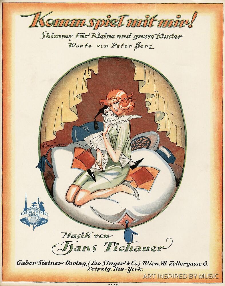 KOMM SPIEL MIT MIR (vintage illustration) by ART INSPIRED BY MUSIC
