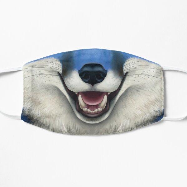 Blue Fox Face Flat Mask