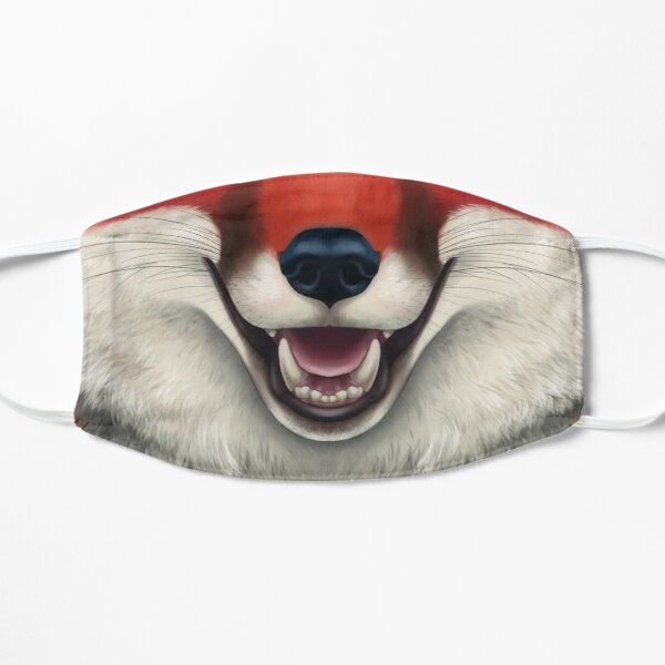 Deep Red Fox Face Mask