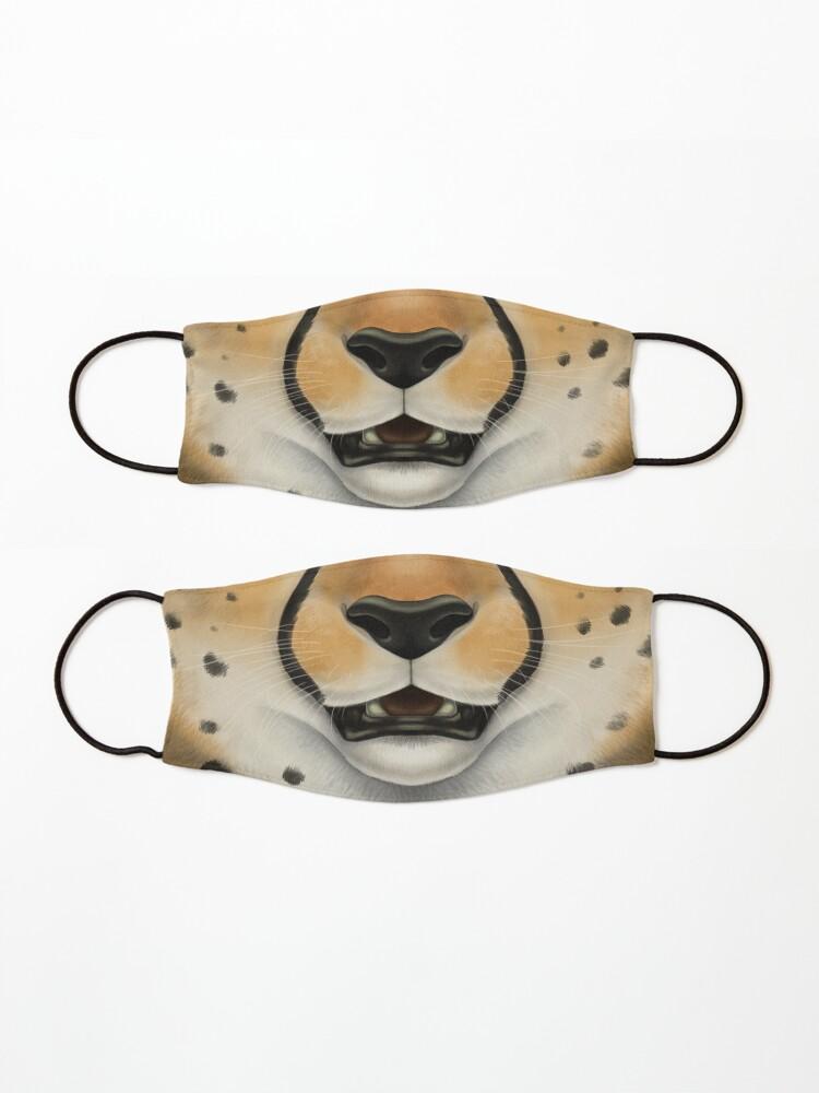 Alternate view of Cheetah Face Mask