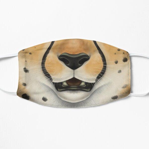 Cheetah Face Flat Mask