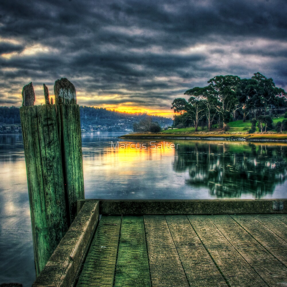 Sunset at Windemere Pier by Marcus Salter