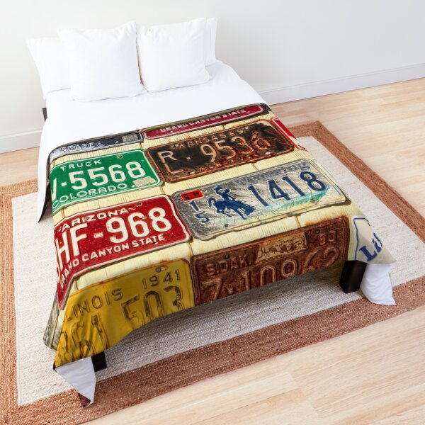 USA License Plate Collection Comforter