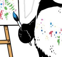 Pandas paint colorful pictures. Sticker