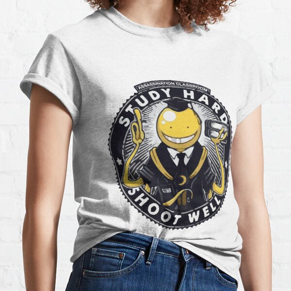 Assassination classroom Koro Sensei Study hard shoot well Classic T-Shirt